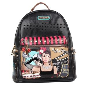 NICOLE LEE HOLLYWOOD STAR PRINT BACK PACK